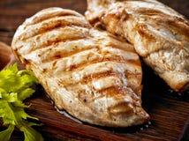 Filets grillés de poulet photos stock