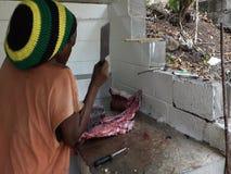 Filettamento del pesce grande nei Caraibi video d archivio