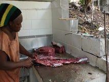 Filettamento del pesce grande nei Caraibi archivi video
