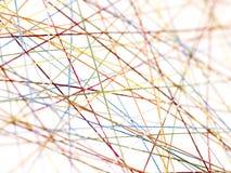 Filetti colorati nel profilo Immagini Stock Libere da Diritti