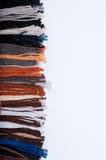Filetti del ricamo ed ambiti di provenienza della tessile Fotografia Stock Libera da Diritti