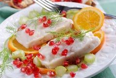 Filetti di merluzzo Fotografia Stock