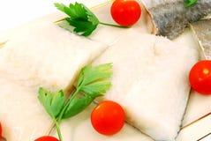 Filetti di merluzzo pronti da cucinare Fotografia Stock Libera da Diritti