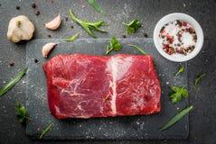 Filetto crudo della carne del manzo fotografia stock libera da diritti