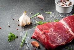 Filetto crudo della carne del manzo fotografie stock libere da diritti