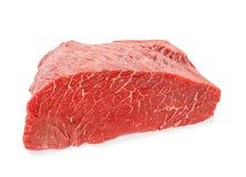 Filetto di manzo crudo su fondo bianco Prodotti della carne fresca immagini stock libere da diritti