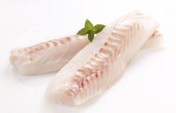 Filetto di merluzzo fotografie stock