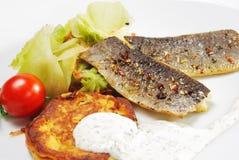 Filetto di pesce affumicato Fotografie Stock