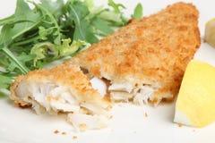 Filetto di pesce bianco impanato immagini stock libere da diritti