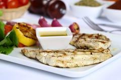 Filetto di pesce cotto Fotografia Stock