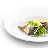 Filetto di pesce delizioso della trota grigliato. Fotografia Stock Libera da Diritti