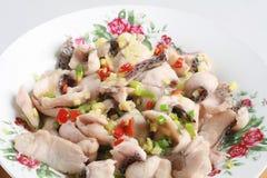 Filetto di pesce della salsa di soia Immagini Stock