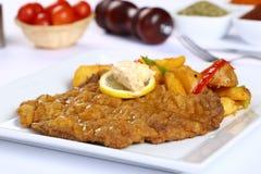 Filetto di pesce fritto Fotografie Stock
