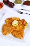 Filetto di pesce fritto Fotografia Stock