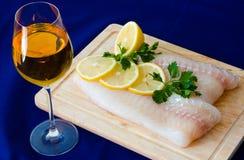 Filetto di pesce grezzo Immagine Stock