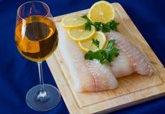 Filetto di pesce grezzo Immagini Stock