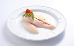 Filetto di pesce grezzo fresco Fotografie Stock