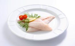 Filetto di pesce grezzo fresco Fotografia Stock Libera da Diritti