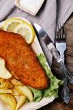 Filetto di pesce squisito Fotografie Stock Libere da Diritti