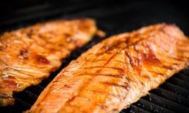 filety z łososia z grilla fotografia stock