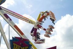 Fileur au funfair photographie stock