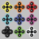 Fileur de main Ensemble d'icônes de jouet de personne remuante de fileur de vecteur plan rapproché Illustration Stock
