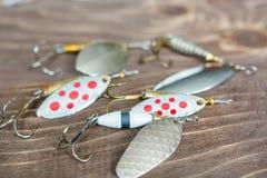 Fileur de pêche Attirail pour la capture des poissons Articles de pêche Image stock