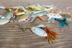 Fileur de pêche Attirail pour la capture des poissons Articles de pêche Photos libres de droits
