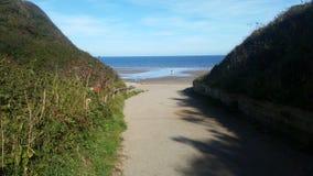 Filey plaża Yorkshire obrazy stock