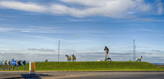 Filey Roundabout Royalty Free Stock Images