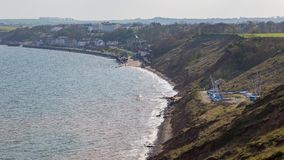 Yorkshire coast in Filey, UK. Filey, seen from Filey Brigg, North Yorkshire, UK Stock Images