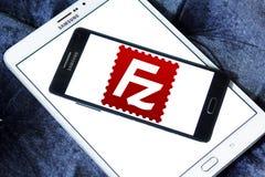 FileZilla application logo. Logo of FileZilla application on samsung mobile. FileZilla is a free software, cross platform FTP application, consisting of stock images
