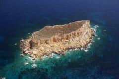 Filfla Malta arkivbild