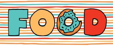 Filhós colorida no alimento ilustração do vetor