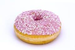 Filhós cor-de-rosa isolada no branco Fotografia de Stock Royalty Free