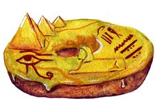 Filhós egípcia no esmalte ilustração do vetor