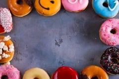 Filhóses doces no fundo de pedra cinzento Foto de Stock Royalty Free