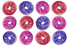 Filhóses frescas coloridas Fotografia de Stock
