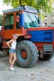 Filha do fazendeiro Fotos de Stock Royalty Free