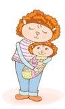 Filha do mum de Lumb ilustração stock