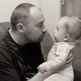 Filha do pai e do bebê Fotografia de Stock Royalty Free