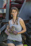 Filha dos fazendeiros Fotografia de Stock Royalty Free