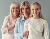 Filha, mamã e avó Imagens de Stock Royalty Free