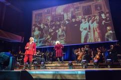 以Filharmonia Futura和M为特色的景象 Walewska -歌剧是生活, 库存图片