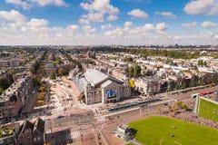 Filharmonia Gebouw w Amsterdam, widok od above Zdjęcia Royalty Free