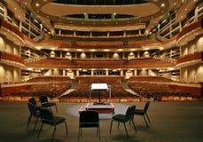 Filharmonia z sala krzesła setem zdjęcie stock