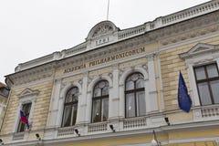 Filharmonisk akademi i Ljubljana, Slovenien Royaltyfri Foto