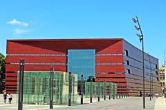 Filharmonisk byggnad i Wroclaw arkivbild