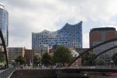 Filharmonisk korridor i Hamburg royaltyfri bild