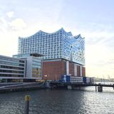 Filharmoniska Elbe royaltyfri fotografi